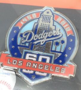Details about 2018 Los Angeles LA Dodgers 60th Anniversary Pin