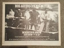 Big audio dynamite medizin 1986 Presseanzeige komplette page 33 x 43 cm