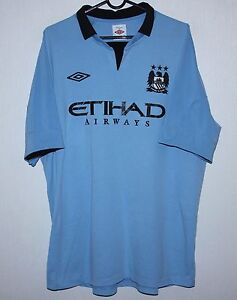 Manchester City Inghilterra Home Camicia 12/13 Umbro Taglia 46