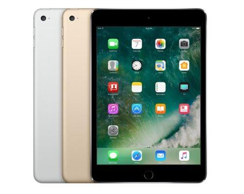 NEW Apple iPad Mini 4 WiFi or Unlocked I Gray Silver Gold I 16GB 32GB 64GB 128GB