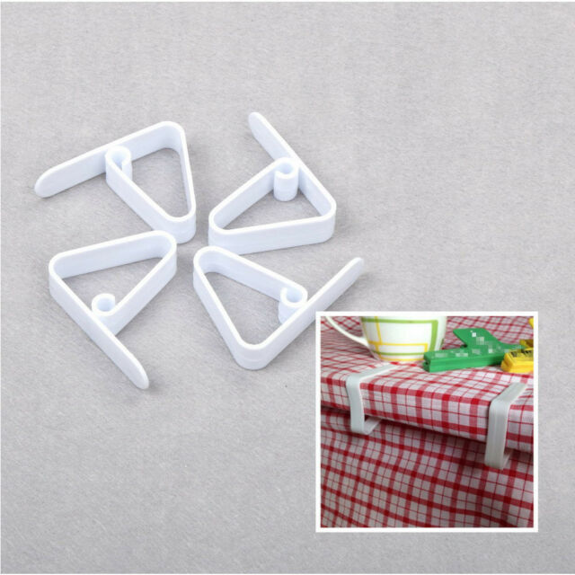4PCS Table Cover Cloth Desk Skirt Clip for Wedding Party Picnic&Portable Clamp E
