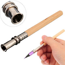2X Adjustable Pencil Extender Lengthener Holder Art Writing Tool Wooden Handle,!