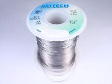 "4300 Amtech Solder Wire SN63 PB37 Tin Lead .015"" 2.2% Flux Core 8oz Partial"