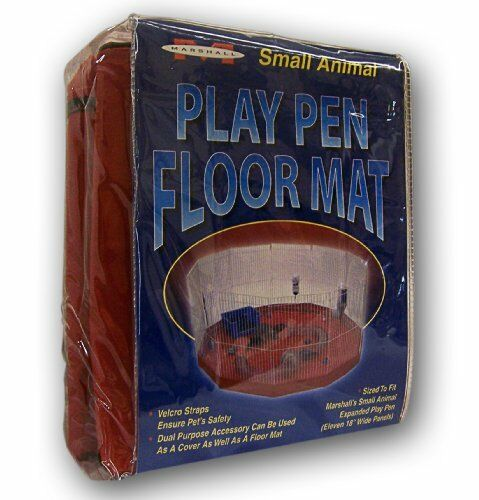 Marshall Ferret Small Animal Playpen Mat Cover 11 18 -Panel colors Vary