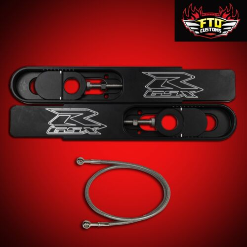 "2008 GSXR 750 Swingarm Extensions 12/"" Stretch /& 36/"" Brake Line"