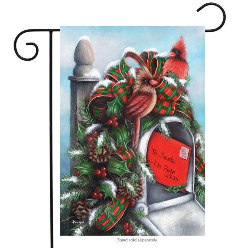 "Letter to Santa Christmas Garden Flag Mailbox Cardinal Holiday 12.5/"" x 18/"""