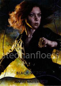 2020 Upper Deck Marvel Masterpieces Epic Purple #10 Black Widow 064/199