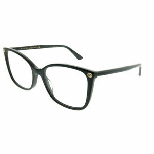 New-Authentic-Gucci-GG0026O-001-Black-Plastic-Square-Eyeglasses-53mm