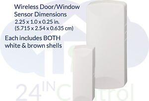 Simon XT/XTi TX-E201 mini Door/Window Sensor with BOTH WHITE & BROWN SHELLS