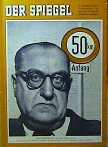 SPIEGEL 42/1956 Der Verkehrspolitiker Oskar Rümmele - München, Deutschland - SPIEGEL 42/1956 Der Verkehrspolitiker Oskar Rümmele - München, Deutschland