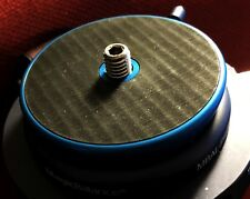 GzPuluz Tripod Heads 3//8 inch Thread Dome Professional Tripod Leveling Head Base with Bubble Level