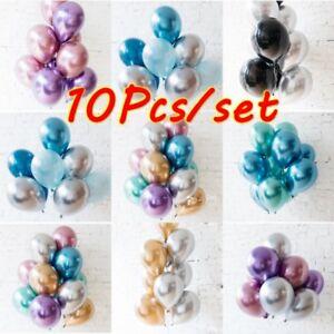 10Pcs-set-10-034-Metallic-Chrome-Balloons-Bouquet-Party-Birthday-Wedding-Decor-Shiny