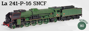 Locomotive-vapeur-241-P-16-SNCF-1950-HO-Neuf-en-boite-30-cm-train-rail