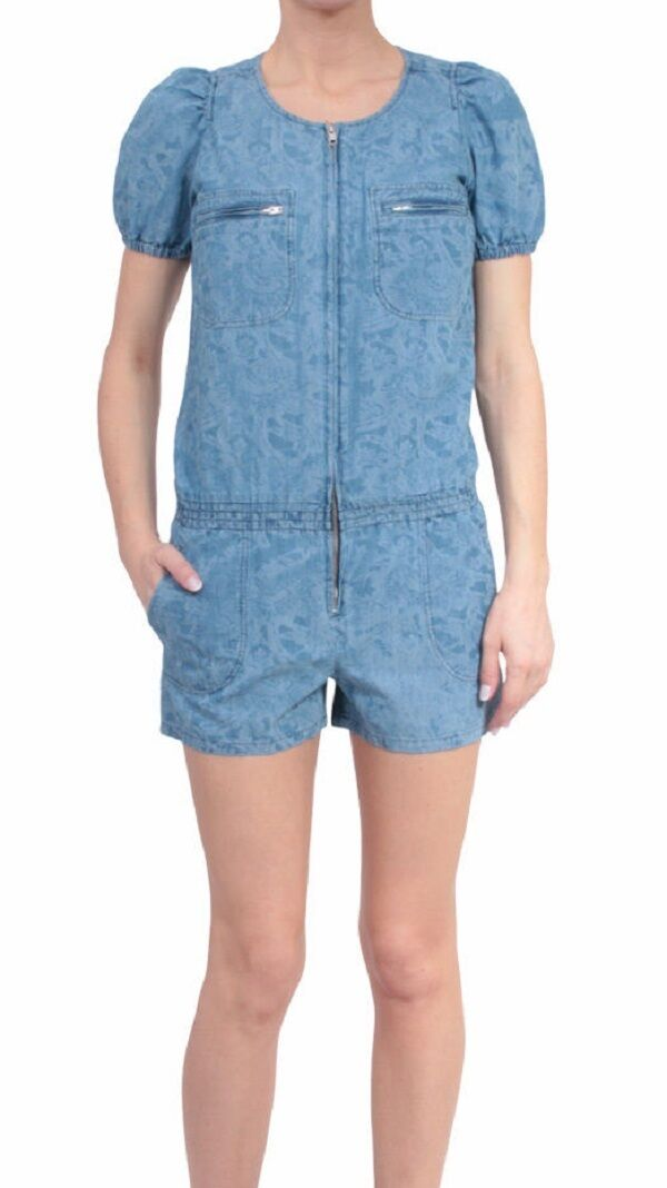 ISABEL MARANT Phineas Cotton Linen Blend Puffed Sleeve Playsuit
