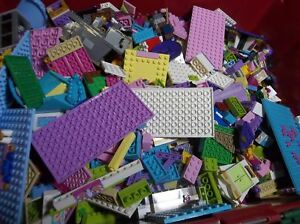 Lego-Friends-1-99-Pounds-Parts-Pieces-HUGE-BULK-LOT-Bricks-Blocks-Pink-Blue
