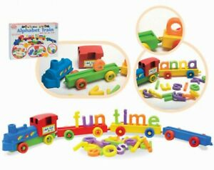 Details about Fun Time Baby Toddler Alphabet Train Learn Toy ABC Colorful  Building Blocks Set