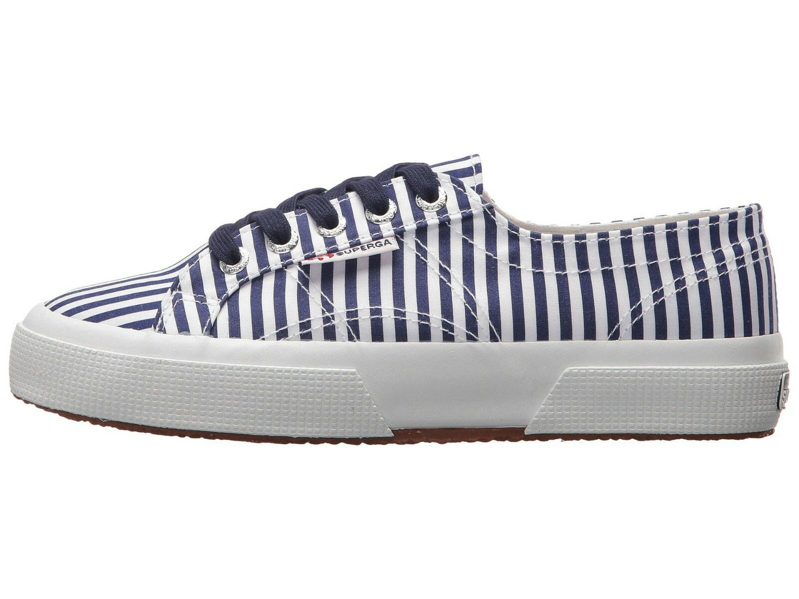 Superga 2750 FABRICSHIRTU  Lace-Up Sneaker Navy Stripe Size US Women 9.5