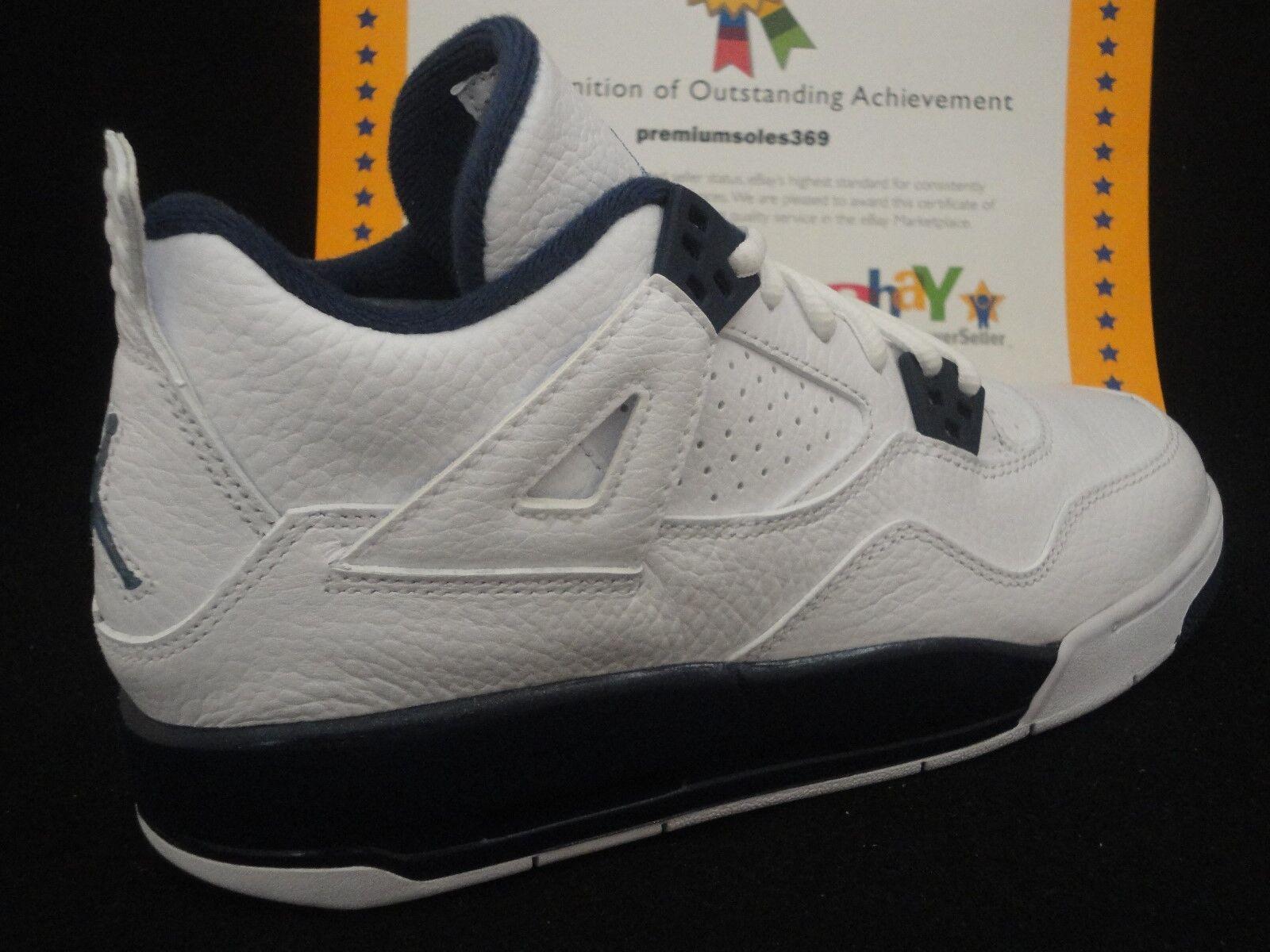 size 7 new collection pre order Nike Air Jordan 4 Retro BG, White / Legend Blue / Mid Navy, Size 5.5Y, Eur  38