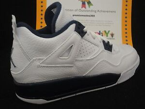Image is loading Nike-Air-Jordan-4-Retro-BG-White-Legend-