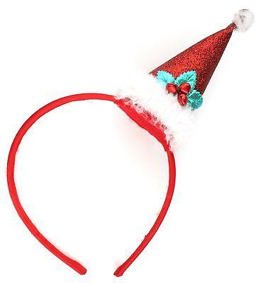 Zest Natale Rosso In Raso Alice Fascia Con Luccicante Cappello Babbo Natale Con Campane-mostra Il Titolo Originale Fornire Servizi Per Le Persone; Rendere La Vita Più Facile Per La Popolazione