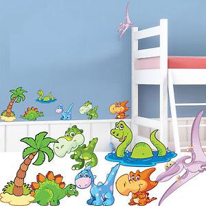 Autocollants Muraux Pépinière Dinosaures-chambre Enfants Enfants Décalcomanie Transfert # 20-afficher Le Titre D'origine Texture Nette