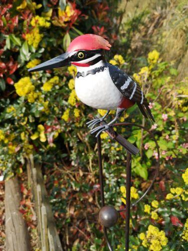 New Rocking Metal Woodpecker Bird Garden Ornament Statue Wind Sculpture