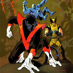 Details About Nightcrawler Signed Art Print Kevin Nowlan Amazing X Men 1 New 17x11 Wolverine