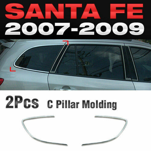 Chrome C Pillar Window Sill Molding Trim C317 For HYUNDAI 2006-2009 Santa Fe