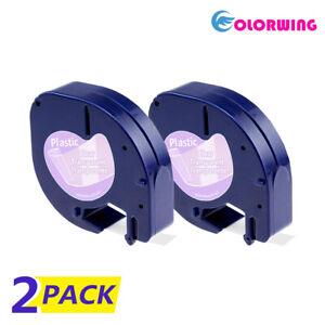 Details about 2PK 16952 LetraTag Refills Compatible DYMO Clear Label Tape  Label Maker 12mm LT