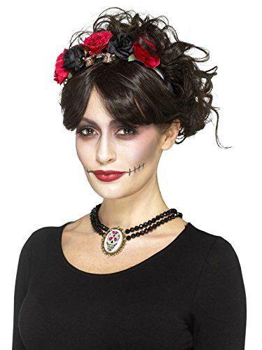 Day of the Dead Halloween Beaded Choker