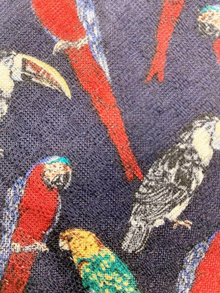 Welt Wildtiere Fund Tropische Vögel Dunkelblau Rot Seide Krawatte MNO1720A #V13
