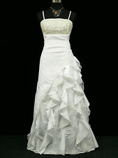 Cherlone Plus Size White Ballgown Wedding Evening Bridesmaid Formal Dress 20