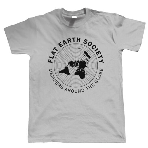 Mens T Shirt Funny Behind Curve Disc Theory Gift Him Dad Flat Earth Society