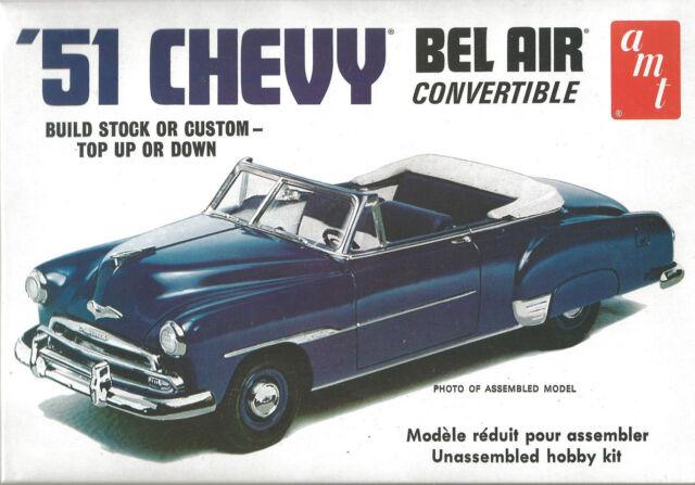 AMT 51 1951 Chevy Bel Air Chevrolet Plastic Model Car Kit 608