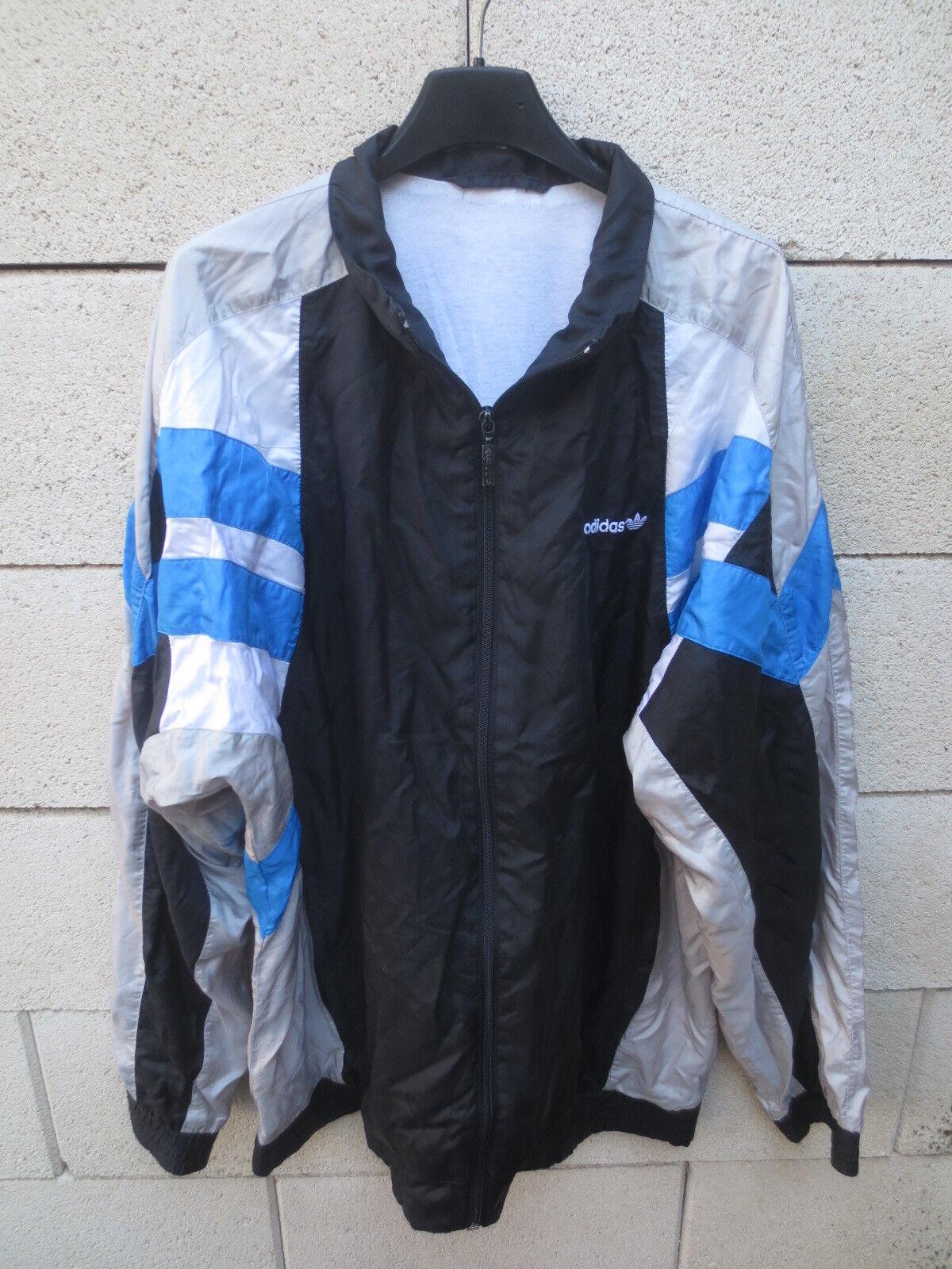 Jacke Parachute Noir Tracktop Adidas 90's Xl Nylon Veste Jacket wUx4qEz8z