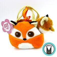 Aurora World Fancy Pals Bright eyes Red Fox Pet Carrier Girls Plush Handbag Toy