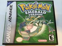 Pokemon Emerald - Gba - Replacement Case - No Game
