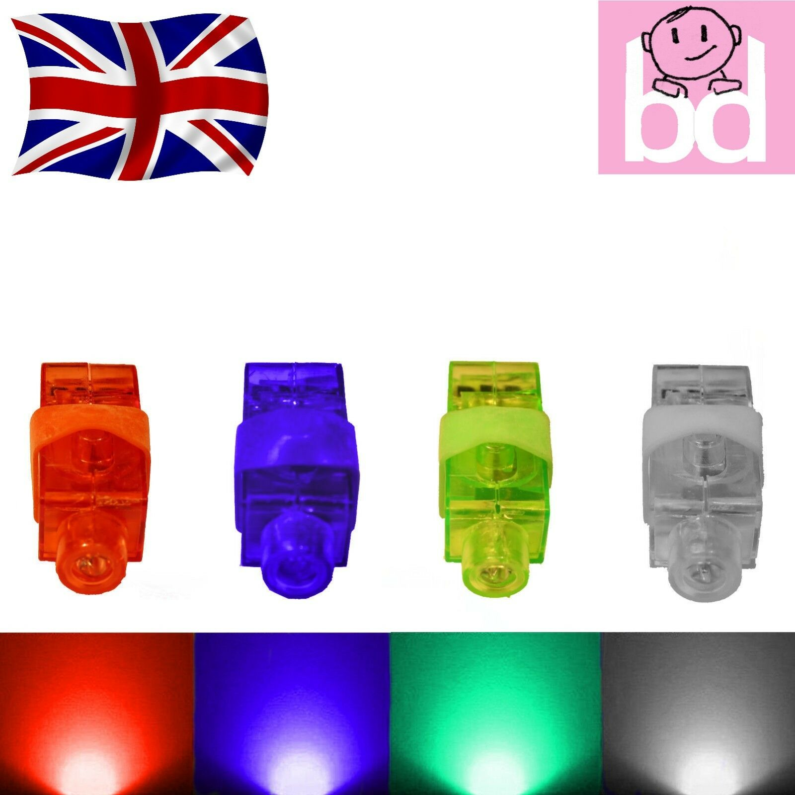 1000 pieces LED Finger Lights Glow Ring Light up Toys Party Disco Rave Wholesale