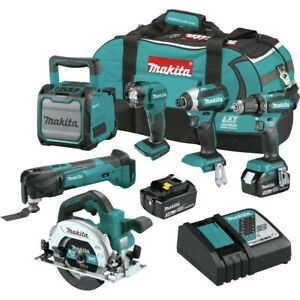 Makita-XT613X1-18V-LXT-Li-Ion-6-Pc-Combo-Kit-3-Ah-New