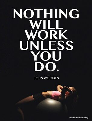 Motivation Workout Gym Fitness Self Adhesive Removable Wallpaper Home Decor Ebay