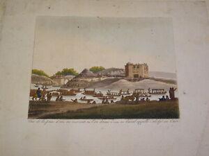 RARE-Gravure-COULEUR-VUE-CANAL-CALIDJE-LE-CAIRE-EGYPTE-ORIENTALISTE-AFRIQUE-1815