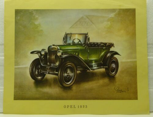 Classic CARS offset LITHOGRAPHIE 1969 OPEL 1923