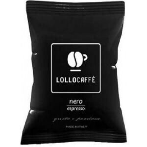 600-capsule-caffe-LOLLO-miscela-NERA-compat-Lavazza-Espresso-Point-nero-cialde