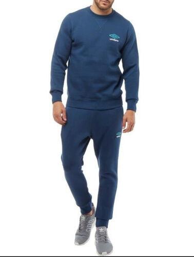 Umbro Homme Officiel Sweat à encolure ras-du-cou bleu marine//Céramique//Blanc Nouveau toutes tailles