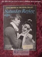 Saturday Review April 27 1963 MARGOT FONTEYN RUDOLF NUREYEV NINETTE DE VALOIS