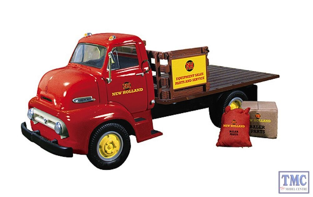 19-3913 First Gear 1 34 SCALE  1953 Ford COE Half Stake Truck with Load 'New Hol