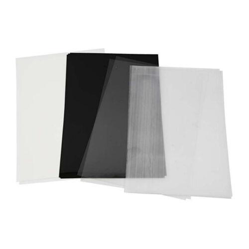 SCHRUMPFFOLIE Folie Shrink me KREATIVFOLIE Bunt Schwarz Transparent Weiß  BOGEN