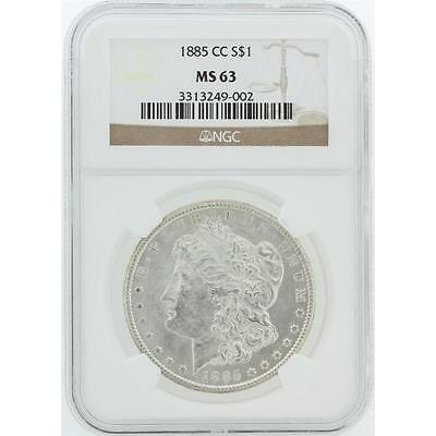 1885-CC NGC MS63 Morgan Silver Dollar Lot 346