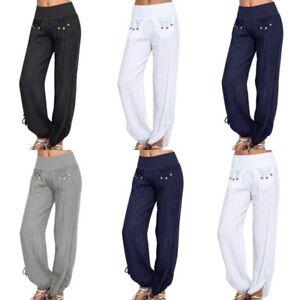 Women-Boho-Baggy-Harem-Pants-Yoga-Gym-Hippie-Gypsy-Casual-Palazzo-Trousers