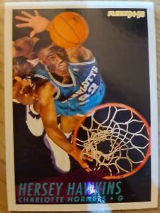 Carte Collection basketball Fleer 94 Hersey Hawkins Charlotte Hornets #25